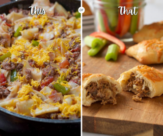 Meal plan options, Monday