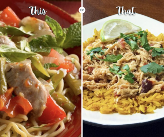 Weekly meal plan, Monday options