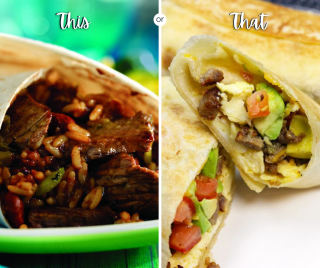 Sharing burritos for this week's taco Tuesday options