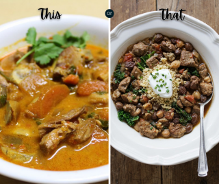 Meal plan options, Wednesday
