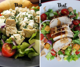 Two salads for you Wednesday meal plan options
