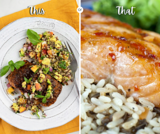 Salmon two ways this Friday - cajun or fall flavors