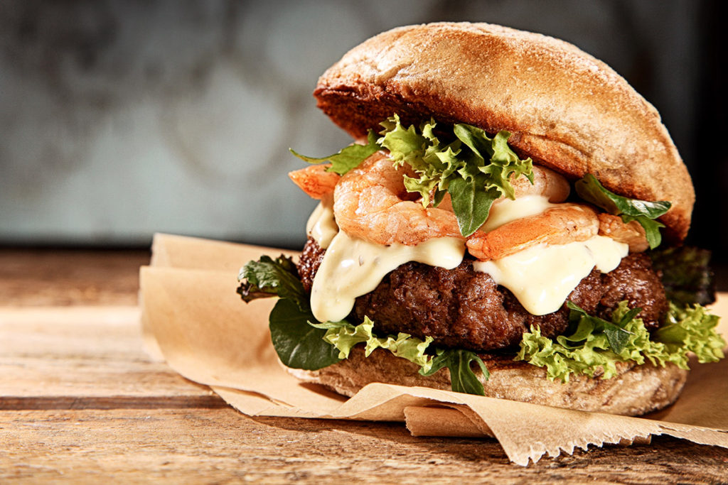 Cajun Shrimp Burger