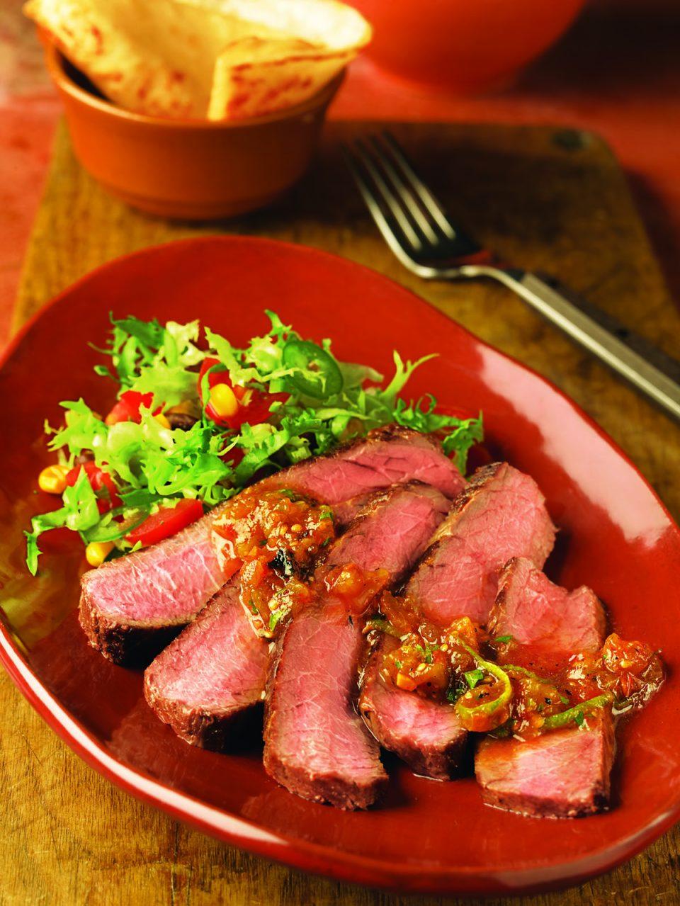 Chipotle Salsa Top Round Steak