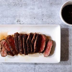 Coffee Crusted Strip Steak