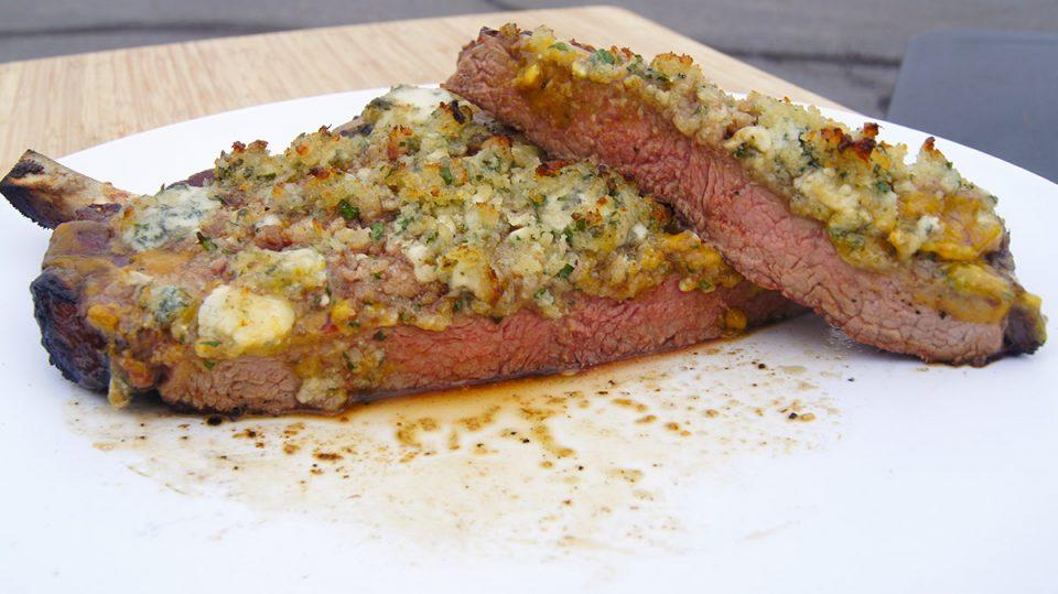 Bleu Cheese Crust Steak Topping