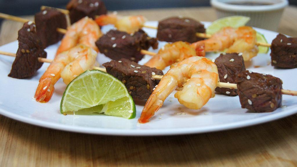 Island Beef and Shrimp Kabobs