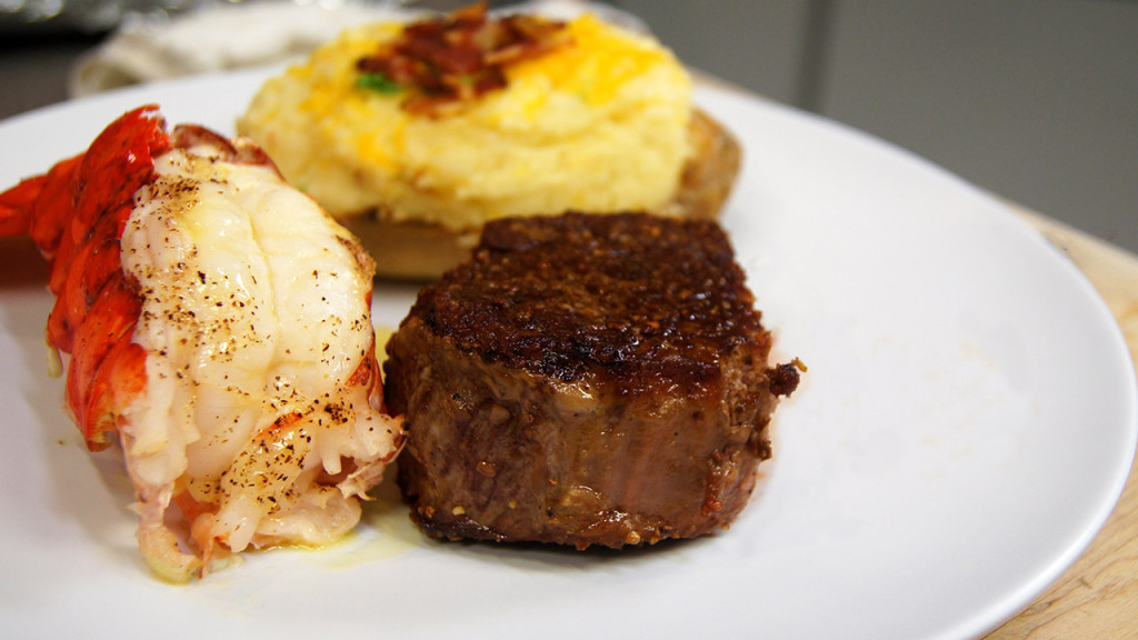Lobster Tails WIth Beef Filets