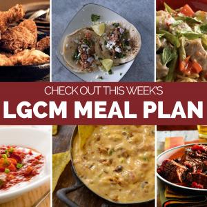Weekly Meal Plan   January 4 – 10, 2020