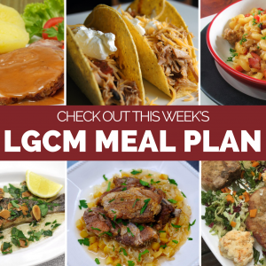 Weekly Meal Plan | October 5 – October 11, 2020