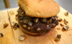 Mushroom and Swiss Burger
