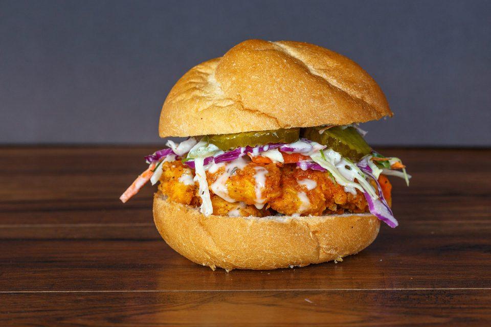 Pickle Brined Fried Chicken Sandwich