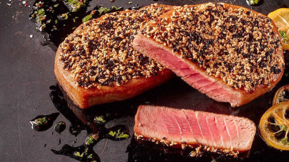 Sesame Crusted Tuna Steaks