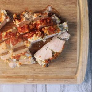 Taco Brat Hasselback Chicken