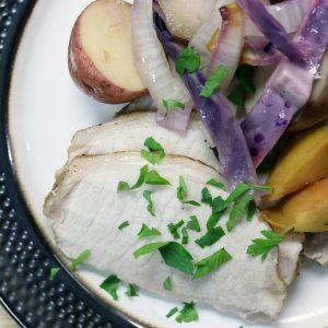 Slow Cooker Apple & Onion Pork Loin