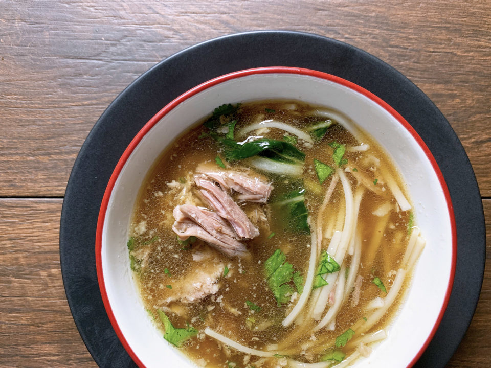 Slow Cooker Pork & Noodle Bowls