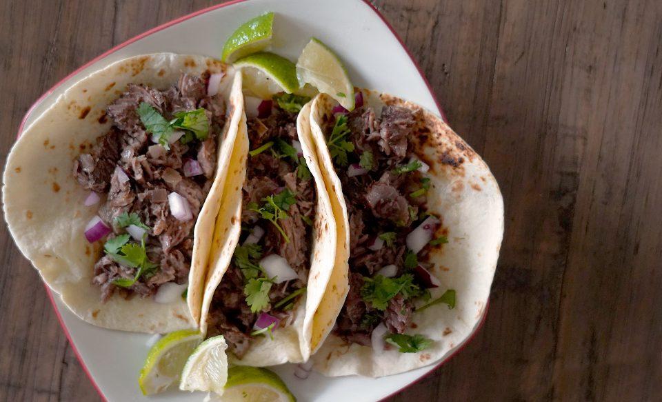 Slow Cooker Short Rib Barbacoa Tacos