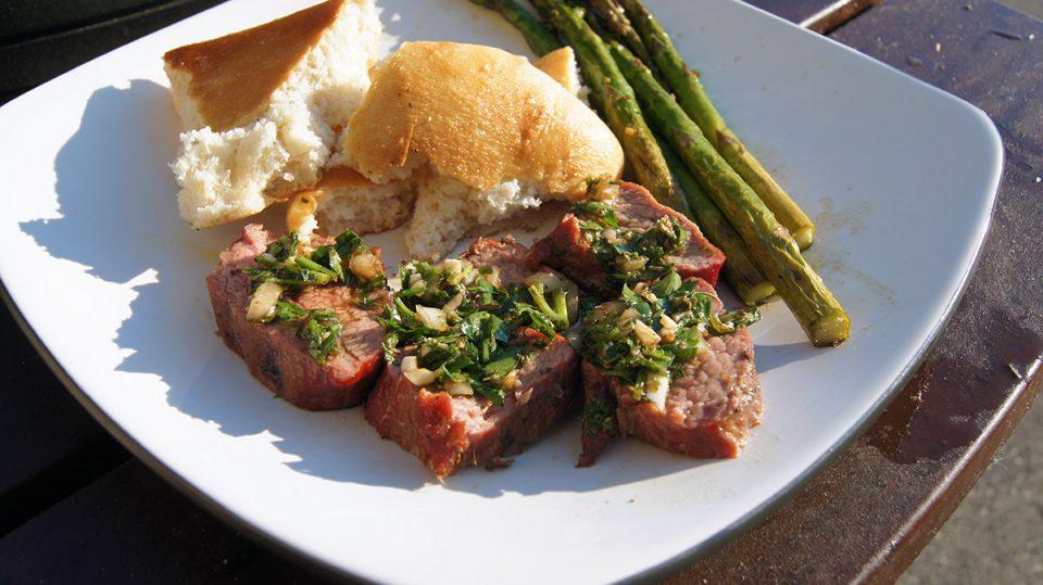 Smoked Chimichurri Tri Tip Steak