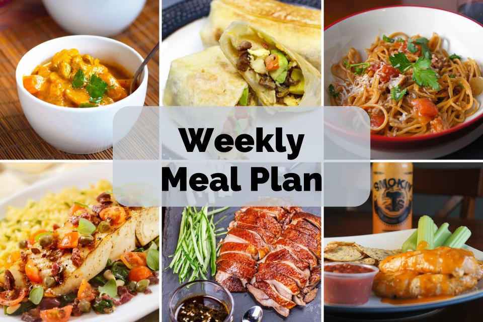 Sunday Meal Plan