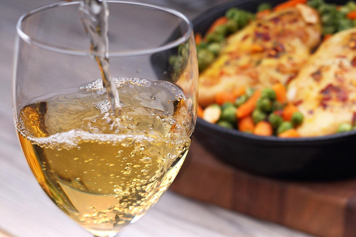 White wine pairs well with chicken