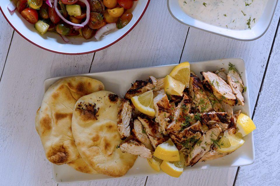 Yogurt and Lemon Marinated Grilled Chicken Breast
