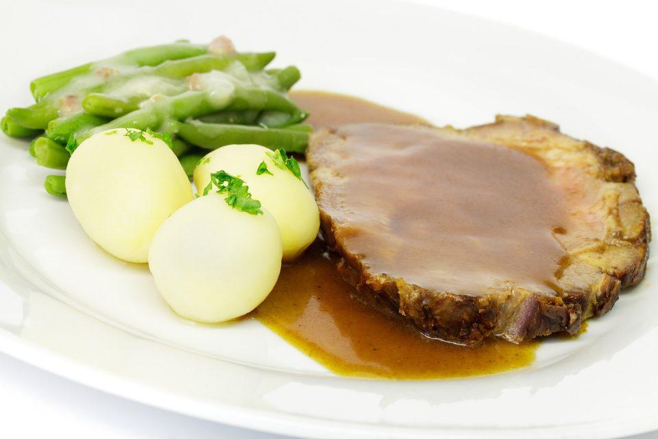 German Pork Roast with Mustard Gravy (Senfbraten)