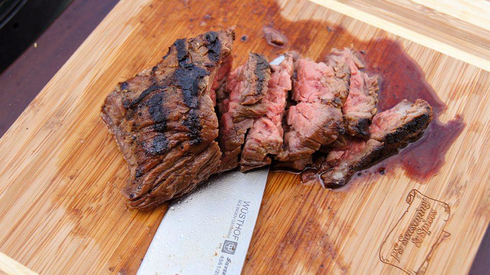 Grilled Adobo Sirloin Bavette Steak