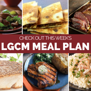 Weekly Meal Plan   July 13 – July 19, 2020