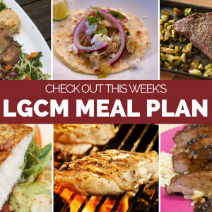 Weekly Meal Plan   July 20 – July 26, 2020